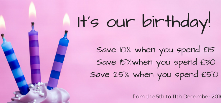 Birthday Sale Starts Monday